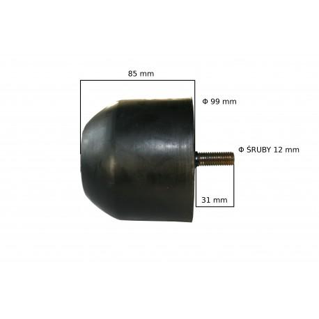 Odbój gumowy   ze śrubą M12 wym:H85mm Fi:99mm