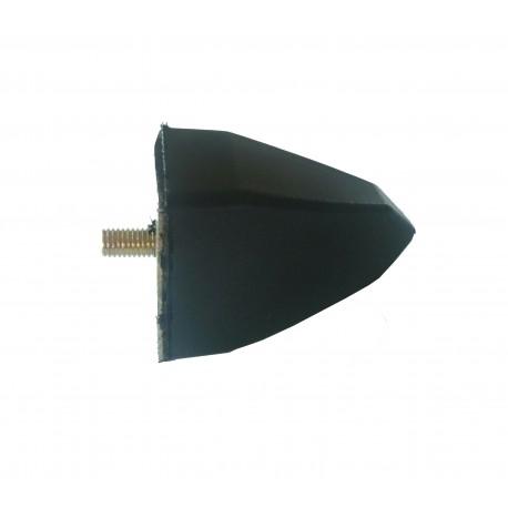Odbój gumowy  stożek  ze śrubą M10 wym:H73mm 40x50mm